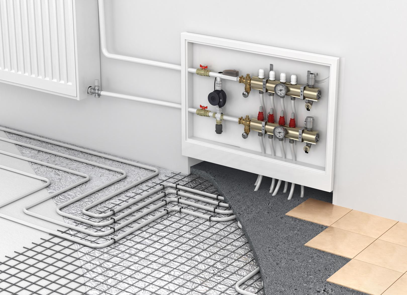 Calefaccion mixta suelo radiante radiadores