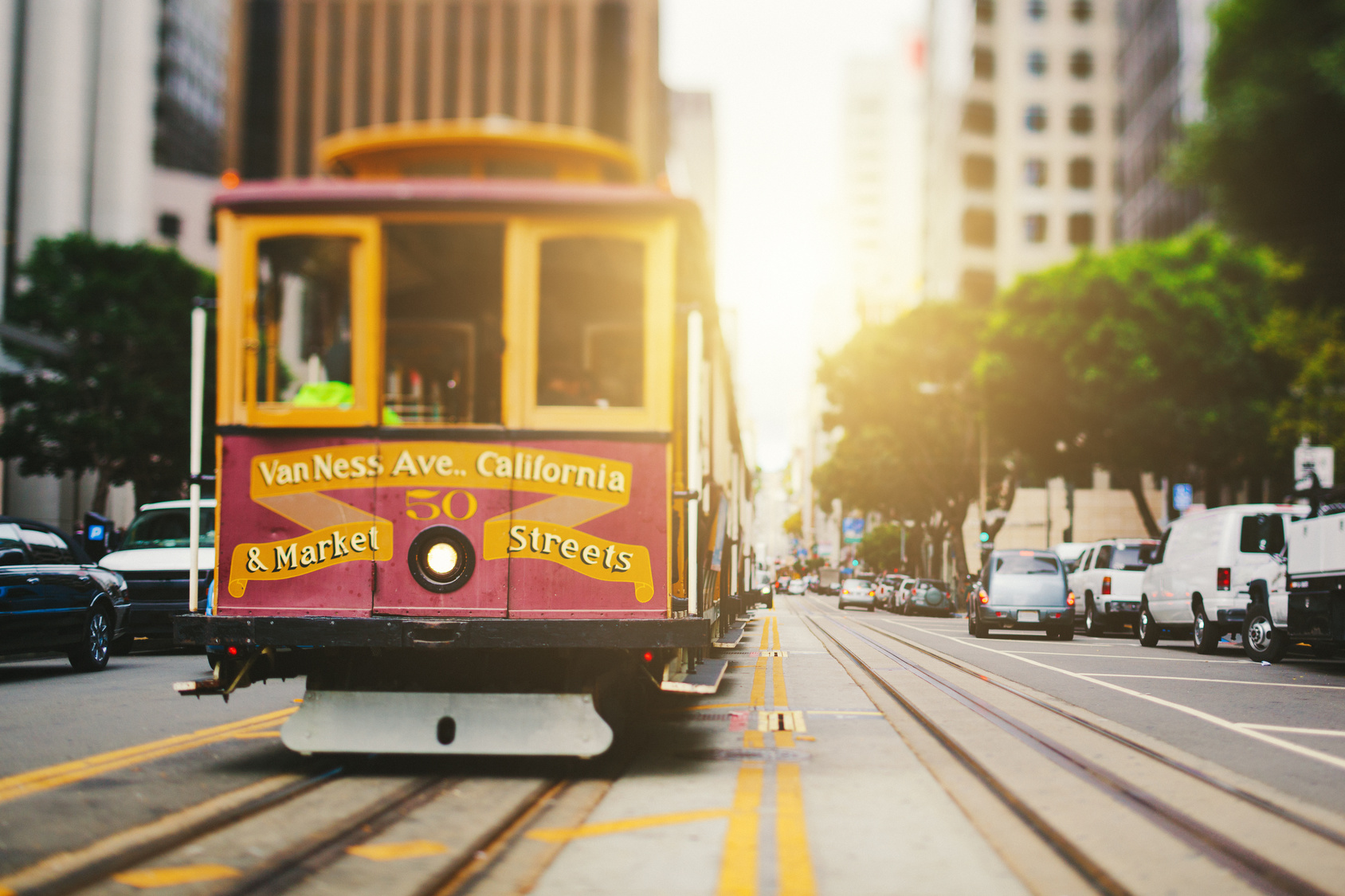 San Francisco Cable Car in California Street